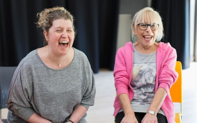 Womens Centre project - two women laughing